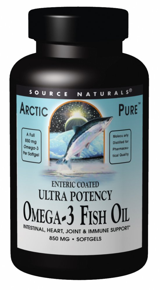 Source naturals arctic pure arcticpure ultra potency omega for Enteric coated fish oil