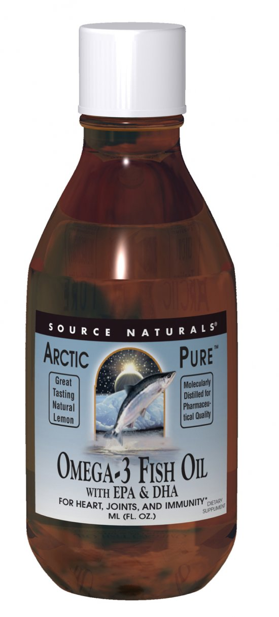 Source naturals arcticpure omega 3 fish oil lemon 200 for Liquid fish oil