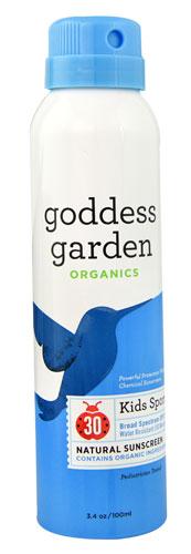 Goddess Garden Kids Sport Continuous Spray Natural Sunscreen Spf30 3 4 Oz