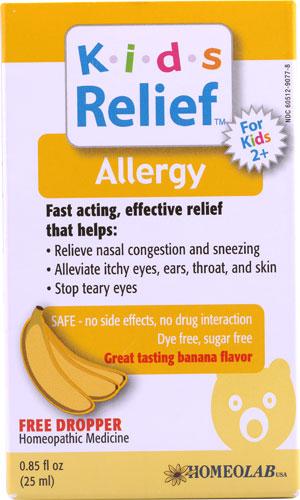 Kids Relief Allergy Banana 0 85 Oz